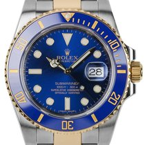 Rolex Submariner Stainless Steel and Yellow Gold Watch with...