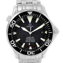 Omega Seamaster 300m Black Wave Dial Watch 2254.50.00 Box Papers