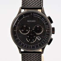 Movado Circa Black Pvd Coated Stainless Steel Chronograph...