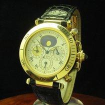 Cartier Pasha 3 Zeiten Herrenuhr Automatic 18kt Gold