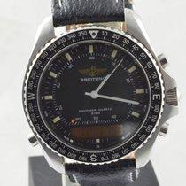 Breitling Pluton Herren Uhr Stahl/stahl 42mm A51038 Vintage Rar