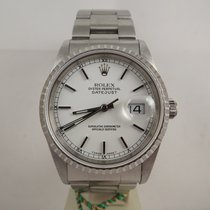 Rolex datejust ref. 16220 anno 1999 dial bianco Oyster B&P