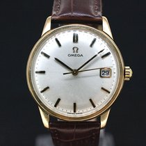 Omega White Dial Gold - Kaliber 611 von 1966 - 9 KT Gold