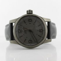 Oris Big Crown Date Stealth Black And Gray On Calfskin Strap