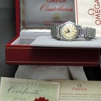 Omega WORLD CLASS Omega Constellation Pie Pan Steel Genuine...