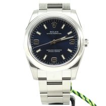 Rolex Oyster Perpetual 34mm blue 3-6-9 arab dial