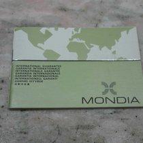 Mondia vintage warranty booklet newoldstock