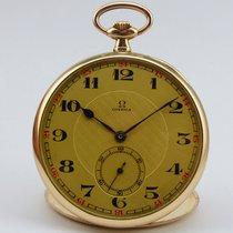 Omega Open Face Taschenuhr - Gold 585  - um 1925