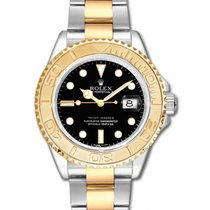 롤렉스 (Rolex) Yacht-Master 40 16623-BLK Black White Dial Yellow...