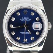 Rolex Datejust 36MM Steel With Blue Diamond Dial,Full Set MINT