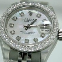 Rolex Ladies Datejust 179160 Steel Watch With Mop Diamond Dial...