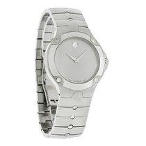 Movado S.E. Sports Edition Mens Silver Dial Swiss Quartz Watch...