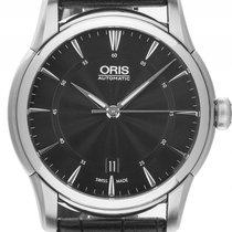 Oris Atelier Date Stahl Automatik Armband Leder 40mm Box&P...
