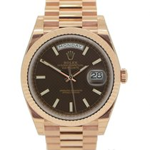 Rolex Day-Date 40 | Rose Gold Chocolate Dial Day Date 40mm