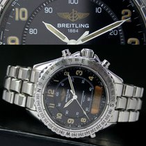 Breitling Intruder Reveil A51035 Quartz Steel Mens Watch &...