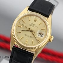 Rolex Datejust 18K Gelgold Herrenuhr Refenz 16018