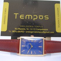 Zenith Carrè 18 Kt Solid Gold Blue Dial YEAR 1964