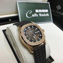 Patek Philippe Cally - 5068R-001 Aquanaut Rose Gold Diam Bezel...