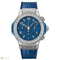 Hublot Big Bang Dark Blue Diamonds Stainless Steel Ladies Watch