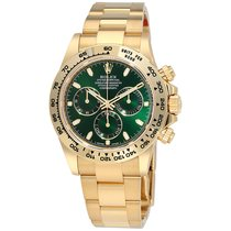 Rolex Cosmograph Daytona Green Dial 18K Yellow Gold Oyster...