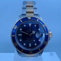 Rolex vintage SUBMARINER ref 16803 blue dial gold steel tones...
