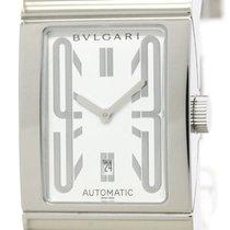 Bulgari Polished  Rettangolo Steel Automatic Mens Watch Rt45s...