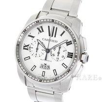Cartier Calibre de Cartier Chronograph White Dial Steel 42MM