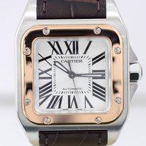 Cartier Santos 100 medium Stahl/Roségold Sportlich Automatik...