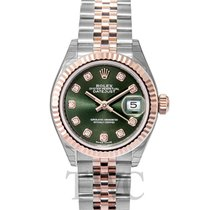 ロレックス (Rolex) Lady Datejust 28 Olive Green 18k Everose...