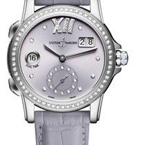 Ulysse Nardin CLASSIC DUAL TIME LADY Steel Case Bezel Diamonds...
