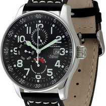 Zeno-Watch Basel X-Large Pilot Power Reserve Dual-Time Day-Date