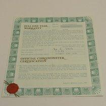 Rolex Warranty Certificate Ref: 15210