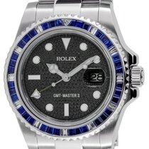 ロレックス (Rolex) Rolex GMT-Master II Steel Blue Sapphire Bezel...
