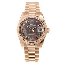 勞力士 (Rolex) Lady Datejust 18k Rose Gold Black Automatic...