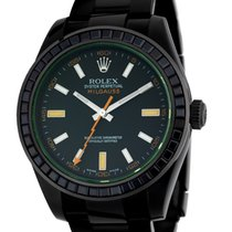 ロレックス (Rolex) Rolex Milgauss Black PVD Coated Watch with Black...