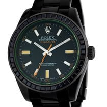 Rolex Milgauss Black PVD Coated Watch with Black Precious...