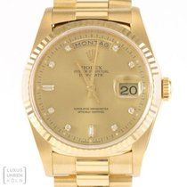 Rolex Uhr Oyster Perpetual Day-Date President Diamanten 750er...