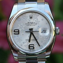 Rolex Datejust Ladies Mens 36mm Stainless Steel Floral 116200...