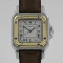 """Cartier """"Santos PM Automatic"""" 18K gold/steel case"""