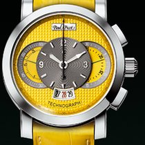 Paul Picot TECHNOGRAPH COLOR 44 MM Steel-Yellow Dial &...