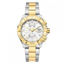 TAG Heuer Aquaracer Automatic Gold Plated Silver Dial Mens...