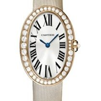 Cartier WB520004 Baignoire Rose Gold with Diamond Bezel - Rose...