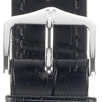 Hirsch Duke Lederarmband schwarz XL 01028250-2-22 22mm