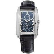 Patek Philippe Gondolo 8 Day White Gold Blue Leather Strap