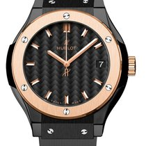 Hublot 581.co.1781.rx Classic Fusion Quartz Ceramic Rose Gold...