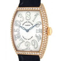 Franck Muller Crazy Hours 7851 Ch D Rose Gold, Leather