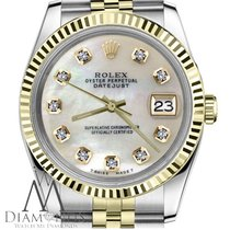 Rolex 18k Gold & Ss 2tone Rolex 31mm Datejust White Mop...