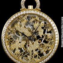 Audemars Piguet Pocket Watch 18k Skeleton Diamond Bezel