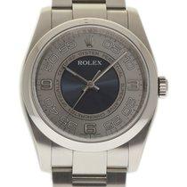 Rolex New No-Date 36mm 116000 Steel Blue Silver Box/Paper #159-4