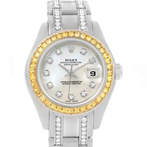 Rolex Pearlmaster Masterpiece White Gold Diamond Sapphire...